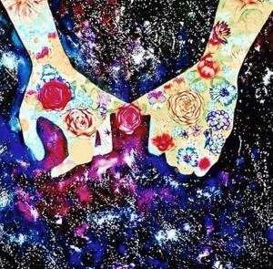 itsallcosmic rose hand
